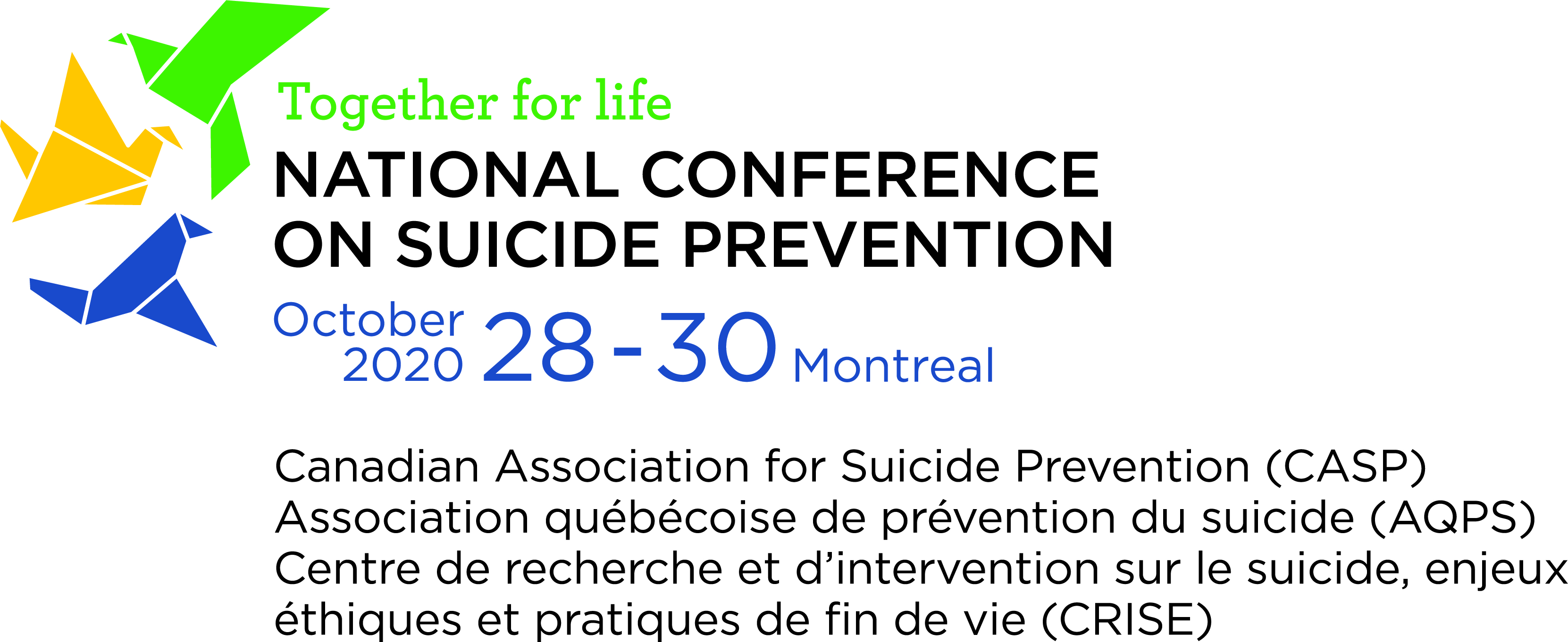 "Logo National Conference for suicide prevention ""Together for Life"""