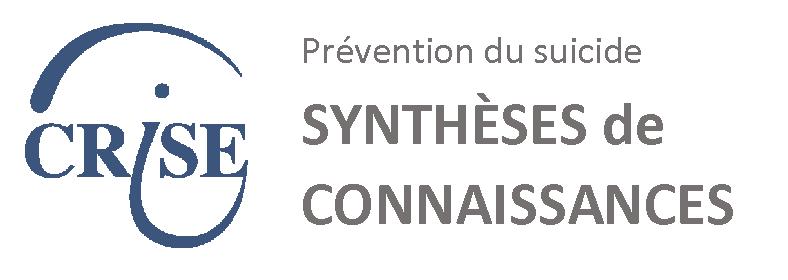 Logo du site web prévention du suicide synthèses de connaissances